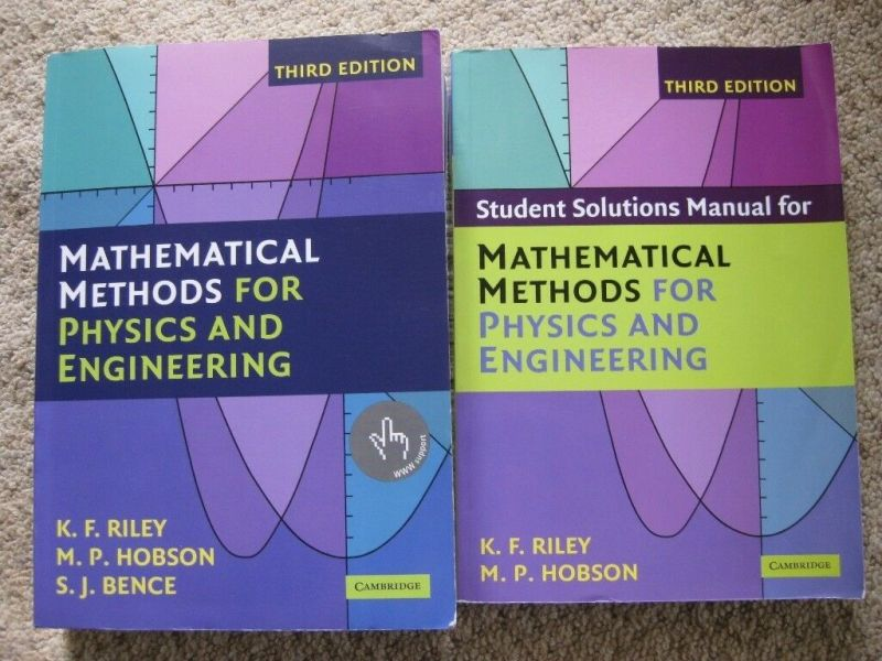 solutions manual riley chapter 15 5 Array   mathematical methods for physics and engineering u0027  textbook set rh gumtree com