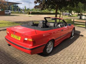 BMW 323i Convertible E36 1998 Auto Red   in Horley, Surrey