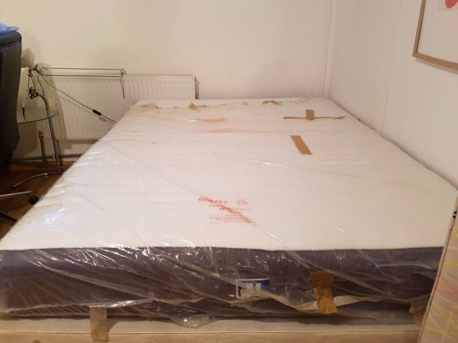 Ikea King Size Hovag Mattress Excellent Condition In Packaging Only A Year Old With Base