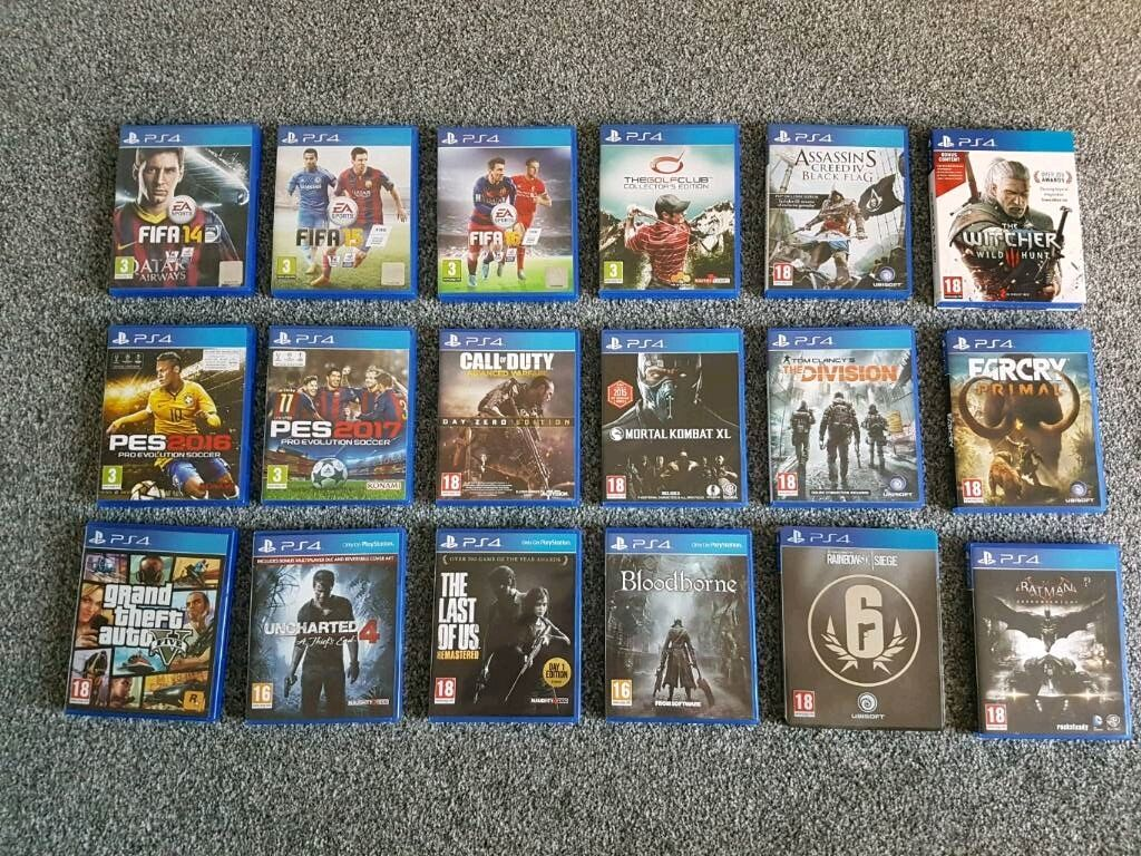 PS4 Joblot Games GTA 5 UNCHARTED 4 FAR CRY PRIMAL Console     PS4 Joblot Games GTA 5 UNCHARTED 4 FAR CRY PRIMAL Console Entertainment