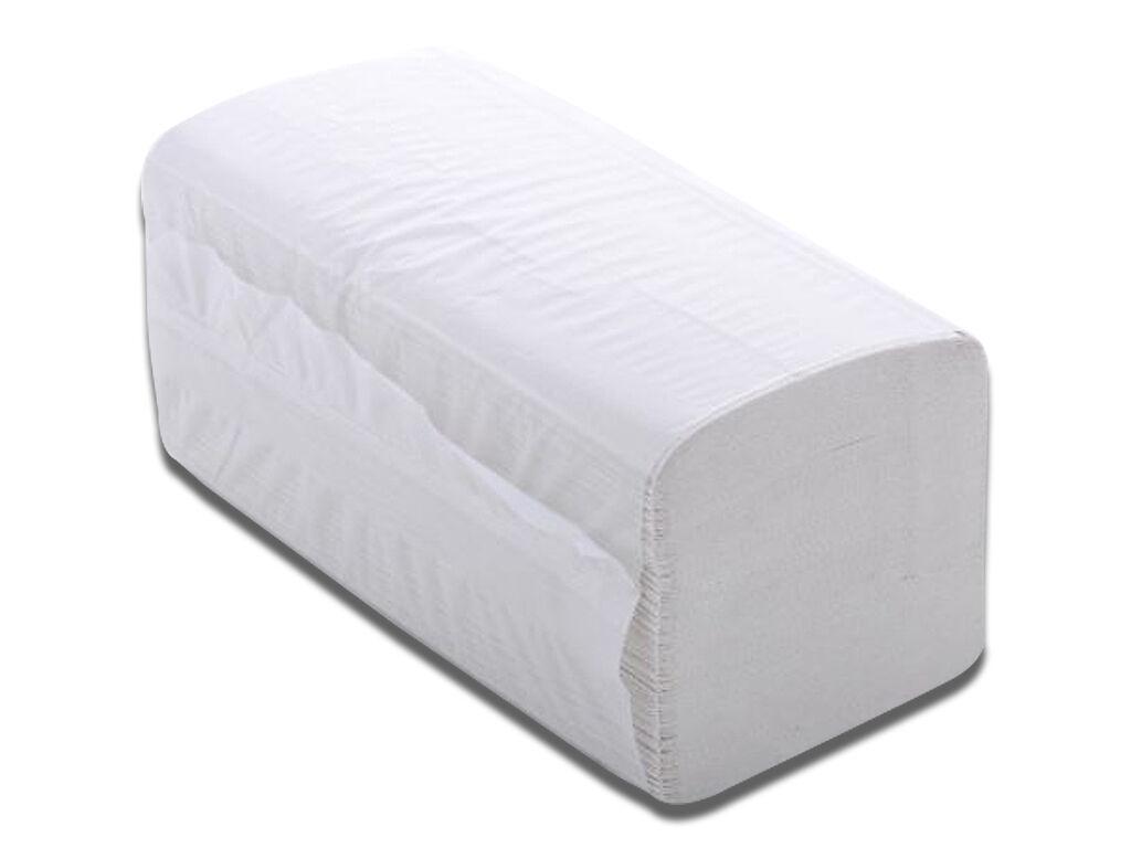 6400x Papierhandtücher Handtuchpapier Z-Falz Falthandtücher 25x23 cm - Hochweiß