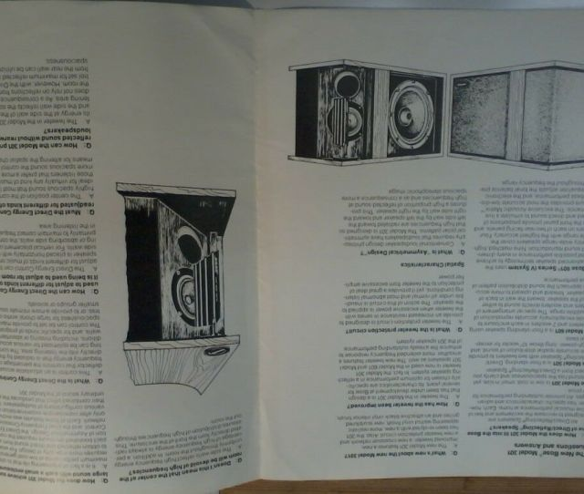 Bose  Speaker Owners Manual Leaflet