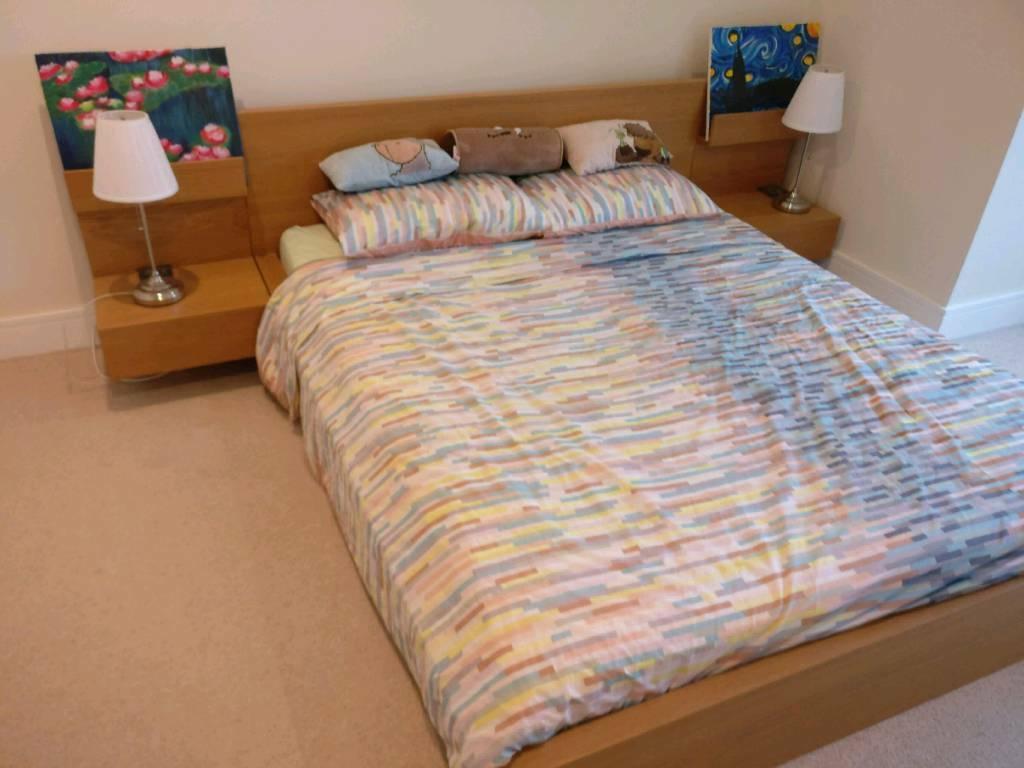 Ikea Malm Bed Floating Bedside Table Mattress In London Gumtree