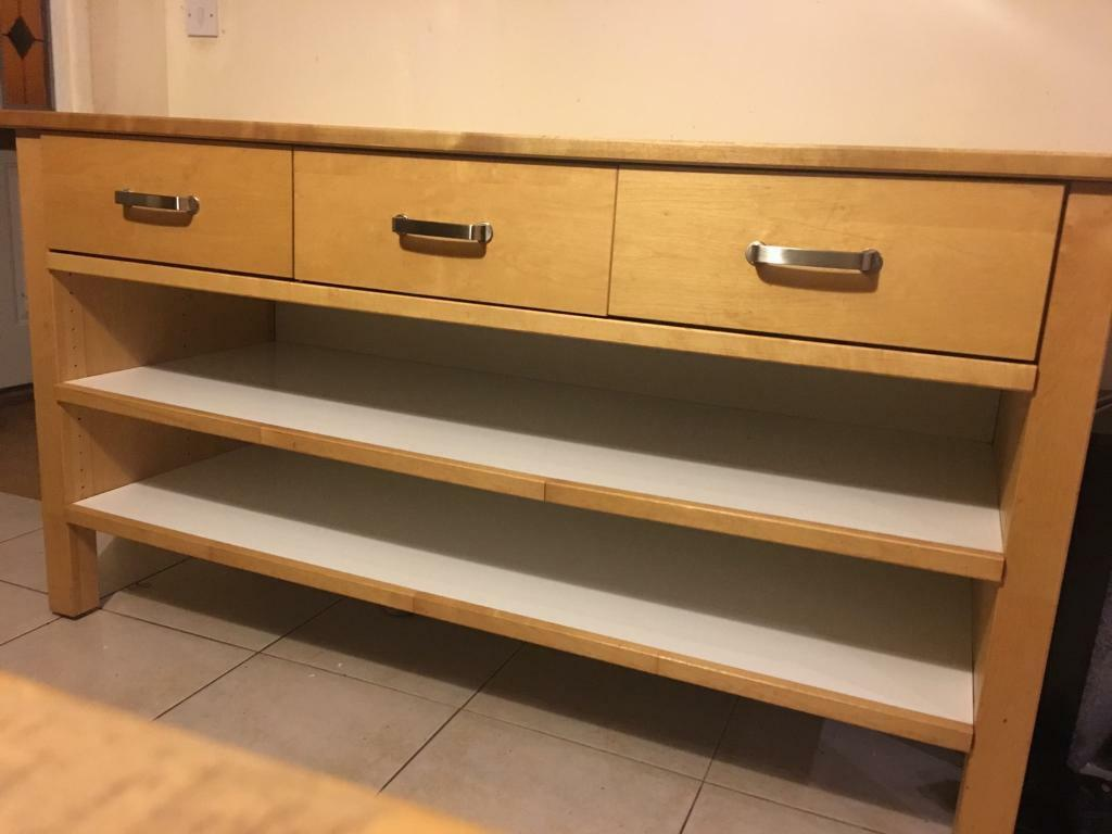 Sold Awaiting Pick Up IKEA Varde Kitchen Island Birch Wood