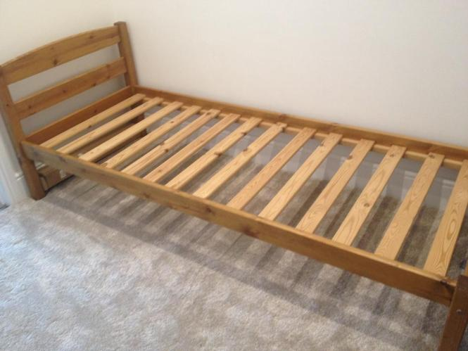 Narrow Single Bed 75 X 190 Solid Wood Suits Or Child