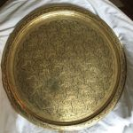 Antique Brass Tray Table Top With Intricate Engraved Design In Leith Edinburgh Gumtree