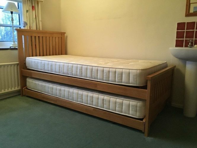 Single Double Pull Out Pine Guest Bed