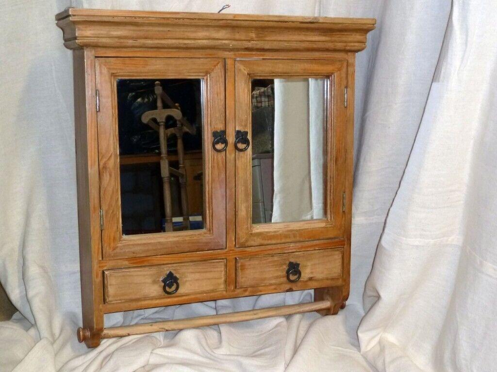 Vintage Solid Pine Bathroom Cabinet In Ringwood Hampshire Gumtree