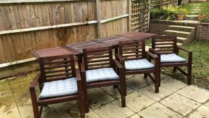 IKEA Applaro Outdoor Drop Leaf Table And Chairs With Hallo