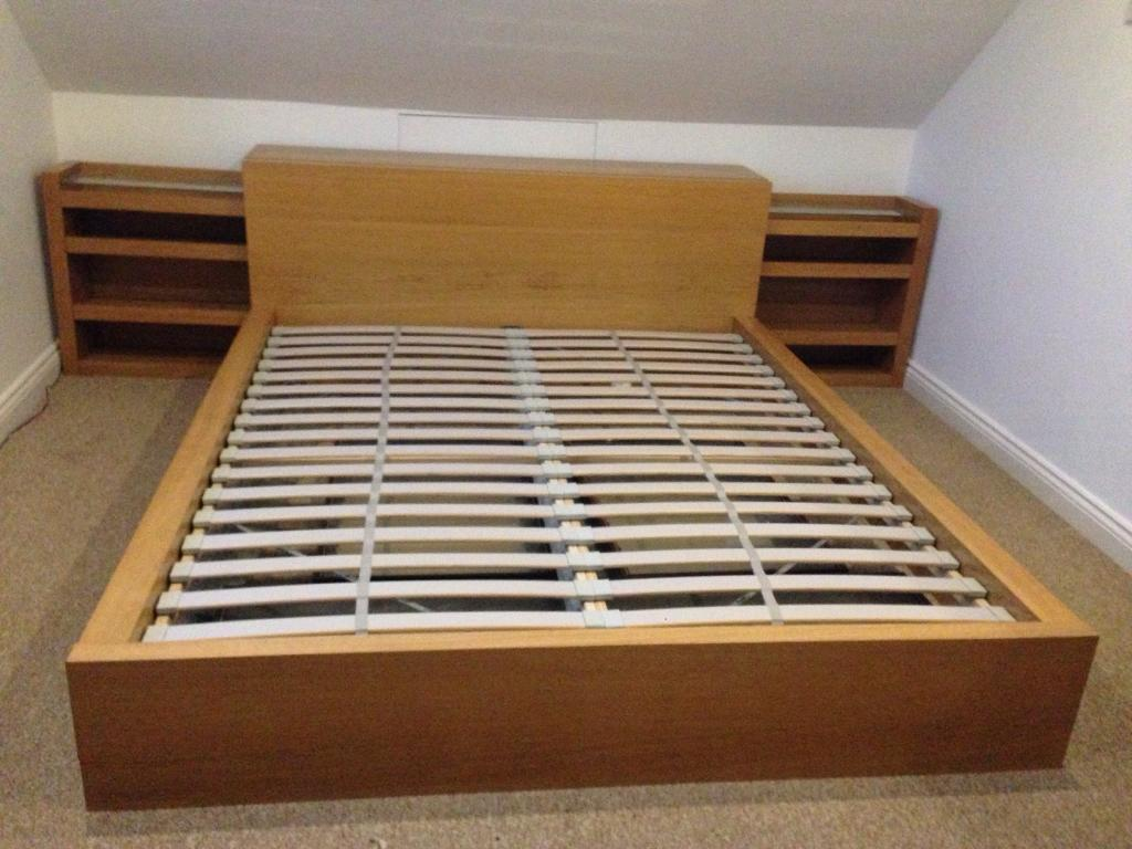 Malm Ikea King Size Bed Frame And Side Units