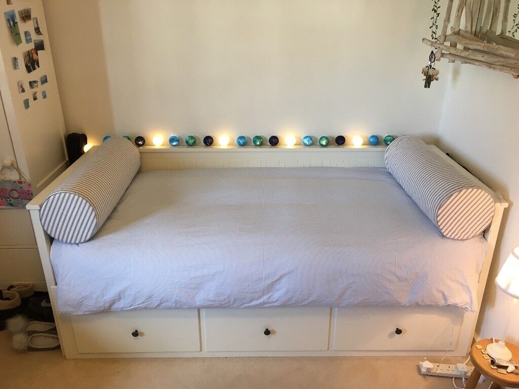 Ikea Hemnes Day Bed Double Single Storeage In White