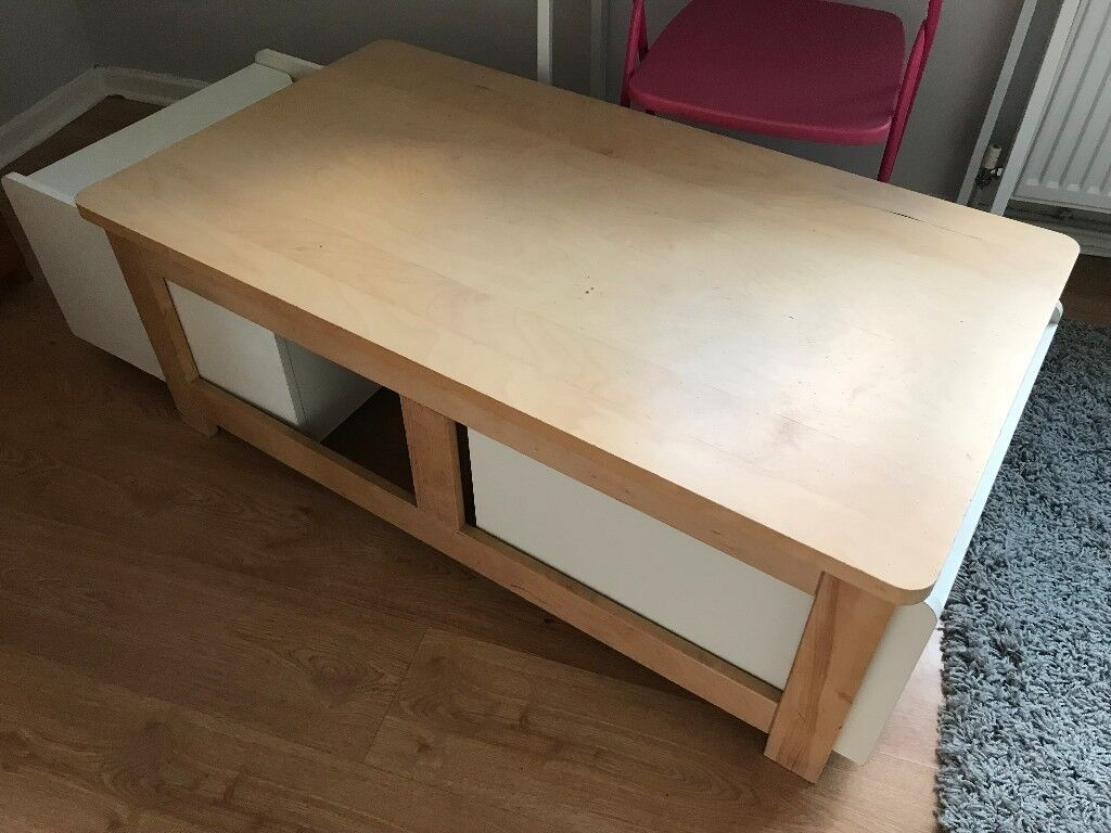 IKEA BANKESTA Coffee Table With Large Removable Storage