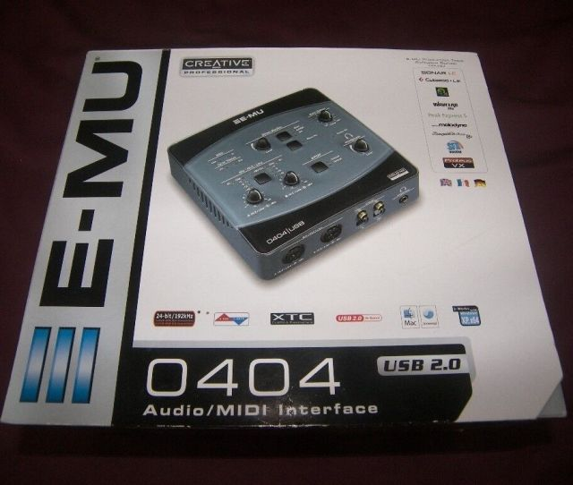 E Mu Emu  0 Audio Midi Interface For Pc And Mac