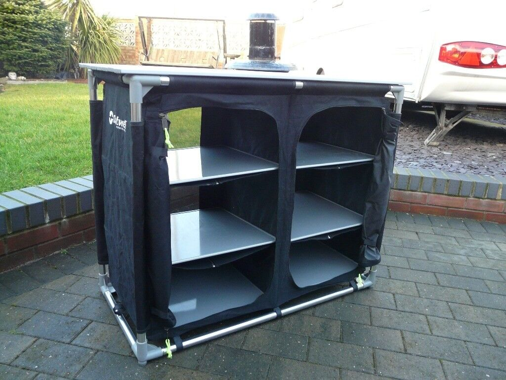 Superb Outwell Double 6 Shelf Camping Storage Kitchen Unit