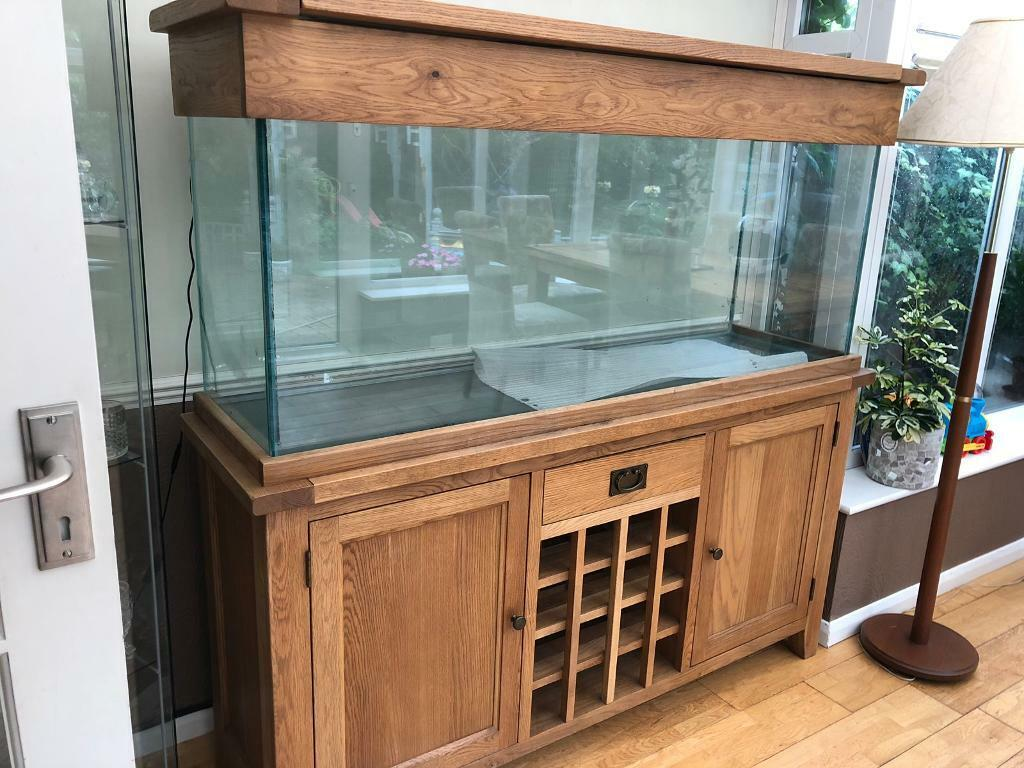 Oak Wood Fish Tank Aquarium For Sale