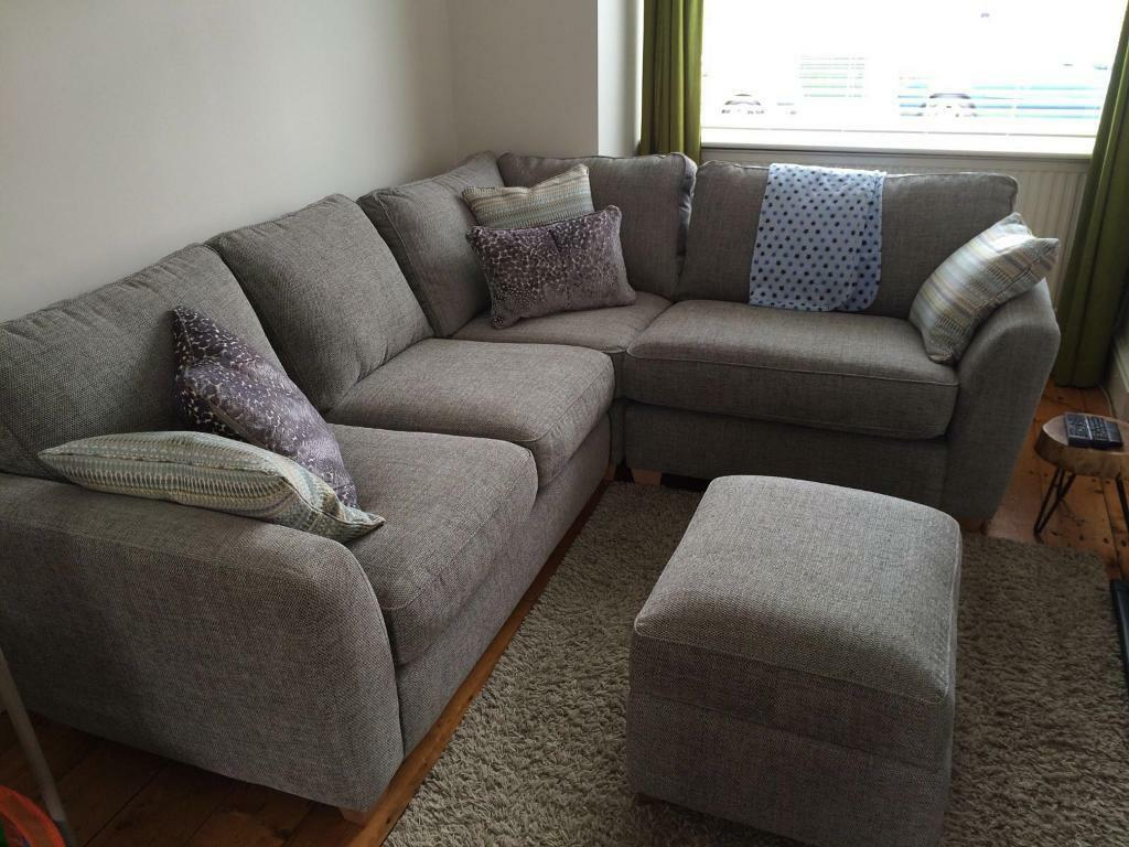 10 Months Old Dfs Sophia Corner Sofa And Footstool
