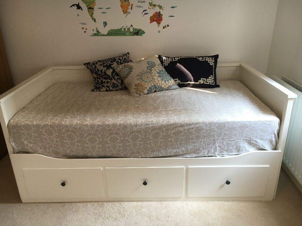 Lovely Ikea Hemnes Day Bed Plus 2 Morgedal Single Mattress Barely Used