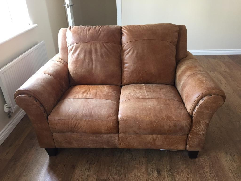 Make Me An Offer Dfs Peyton Leather Two 2 Seaters And Footstool