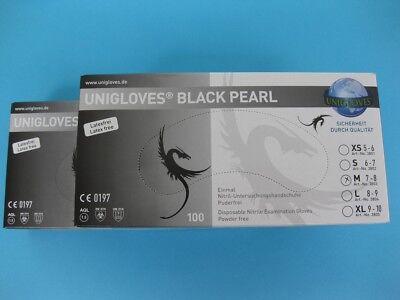 Einmalhandschuhe Unigloves Nitril schwarz  S M L XL Einweghandschuhe ab 1,00€