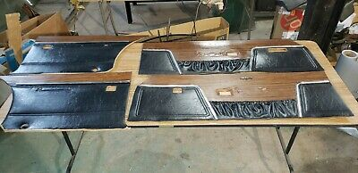 1970 70 dodge charger woodgrain door panel set power window se r/t 500 nice oem!