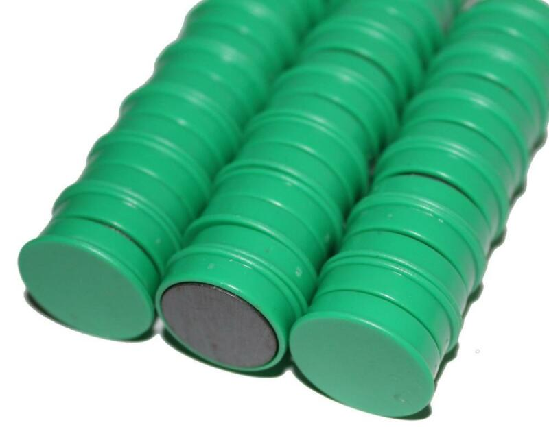 50 x Magnete, Grün ɸ 24mm, Haftmagnete für Whiteboard, Kühlschrankmagnet