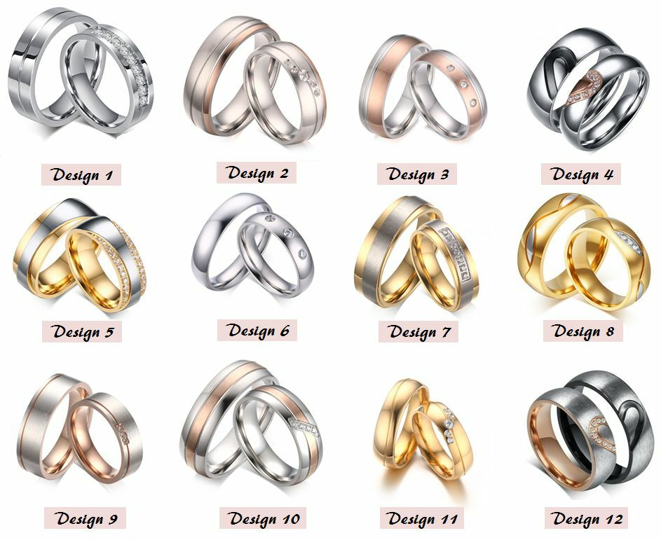 2 Partnerringe Trauringe Hochzeitsringe Verlobungsringe Eheringe Gravur SA1