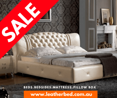 Clearance Leather Bed Free Shipping King Queen Sydney