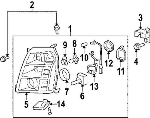 2007 Escalade Parts Diagram