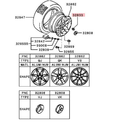 MITSUBISHI OEM 0815 Wheel LUG Nut CHROME WWASHER