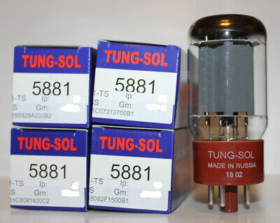 Factory Platinum Matched Quad Tung Sol 5881 tubes, Brand New in Box !