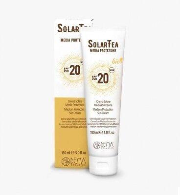 SolarTea BEMA - Sonnencreme LSF 20 (150 ml) - mit mineralischen UV-Filtern