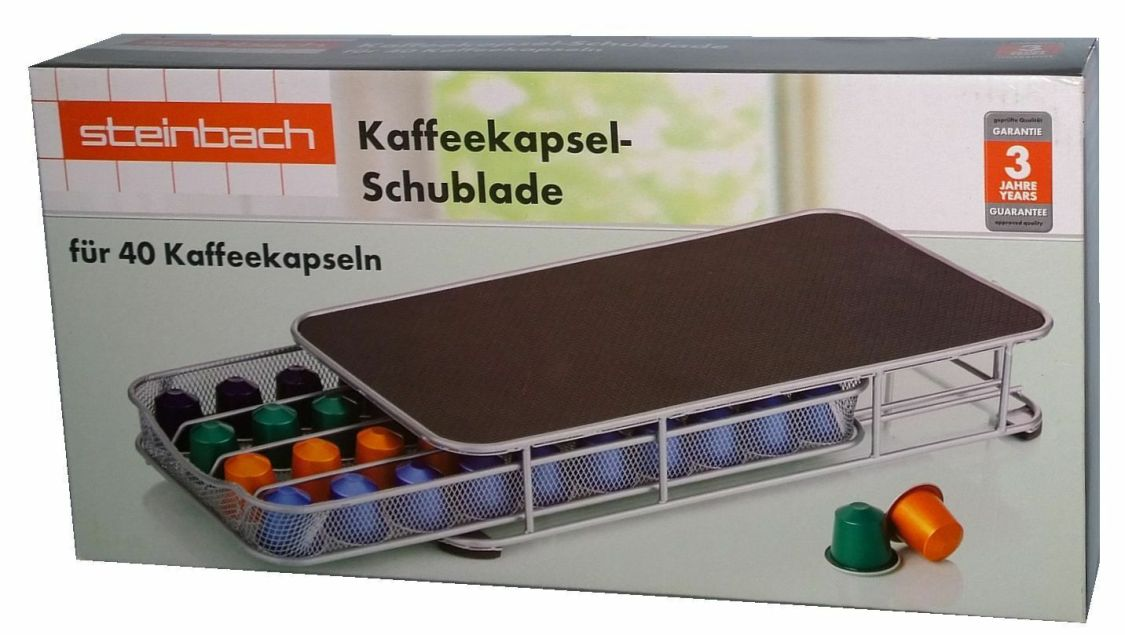 Steinbach Kaffeekapsel Schublade/Halter für 40 Nespresso Kaffe Kapseln