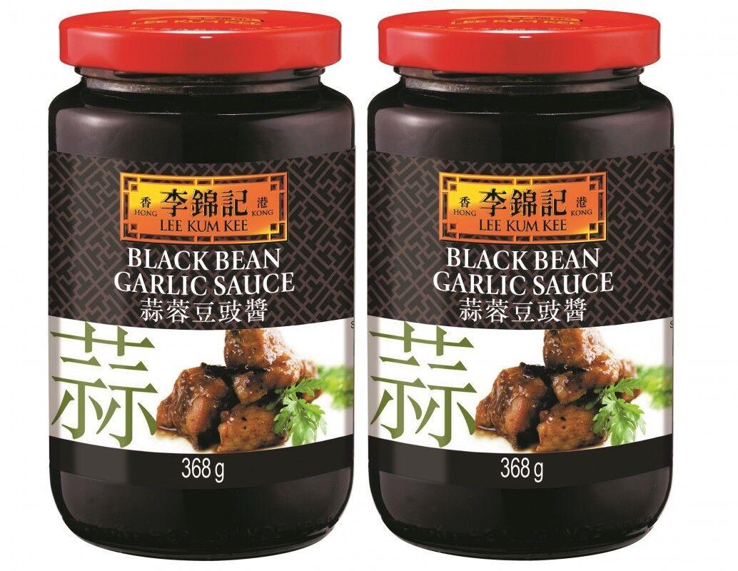 (7,60€/1kg) 2x368g LEE KUM KEE Schwarze Bohnen Knoblauch Sauce Black Bean Garlic