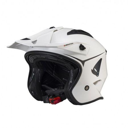 Casco moto UFO Jet Sheratan trial cross scooter colore bianco lucido quad HE131W