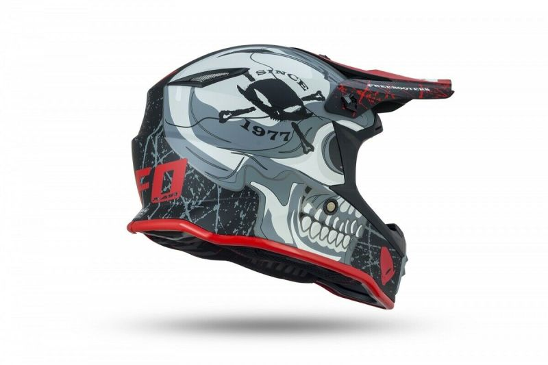 Casco Moto Cross Bimbo Bambino Ufo FreeBooters Junior Offroad Pit Bike Integrale 1