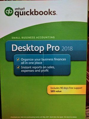 Intuit QuickBooks Desktop Pro 2018 - Retail - Windows - (PC Disc)
