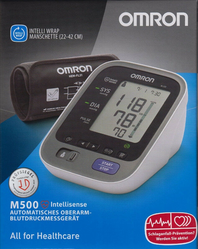 OMRON M 500 neues Modell - autom.Oberarm-Blutdruckmessgerät - neu&OVP v. med. FH