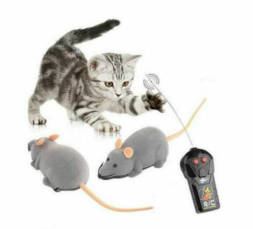 RC Elektronische Ratte Maus Spielzeug mit Fernbedienung für Katzen Hunde