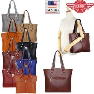 Women Leather Purses and Handbags Shoulder Hobo Messenger Crossbody Tote Bag T01