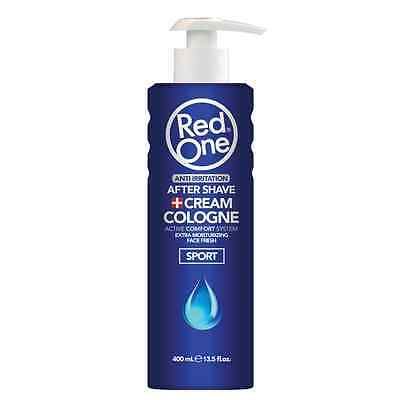 RedOne Cream Cologne  SPORT Aftershave Balsam Blau 400ml (100ml/2,00€)