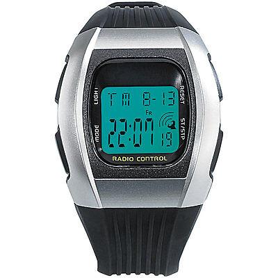 Armbanduhr: Digitale Unisex-Sport-Funkuhr mit LCD-Display