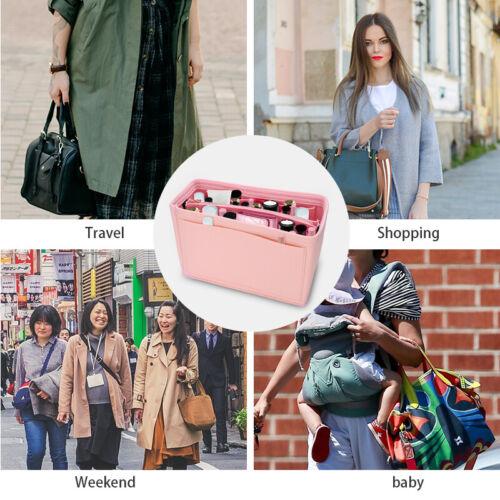 Felt Purse Handbag Organizer Insert - Multi pocket Storage Tote Shaper Liner Bag 7