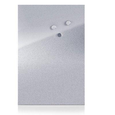 Zeller Magnettafel Edelstahl 40x60 cm, inklusiver 3 Magnete Memotafel Wandtafel