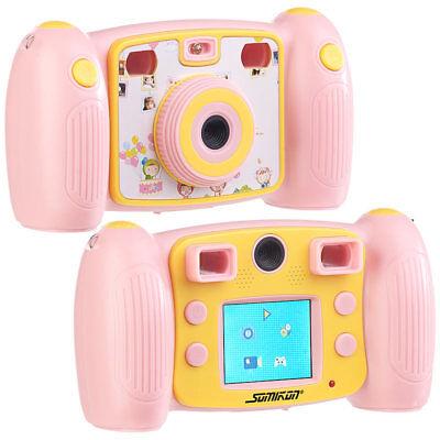 Somikon Kinder-Full-HD-Digitalkamera, 2. Objektiv für Selfies & 2 Sucher, rosa