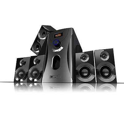auvisio Home-Theater Surround-Sound-System 5.1, 160 Watt, MP3, Radio, schwarz