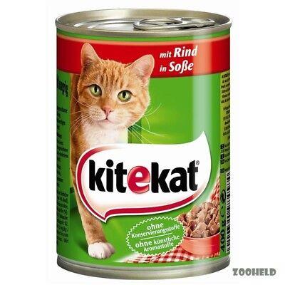 Kitekat mit Rind in Soße | 12x 400g Katzenfutter