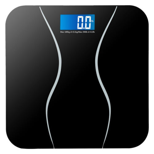 Digital Electronic LCD Personal Glass Bathroom Body Weight Weighing Scales 396LB 2