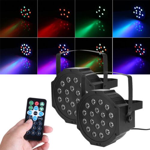 2x 18W RGB LED Par Bühnenbeleuchtung Stage Licht DMX 7CH Dosco DJ Party Club GO
