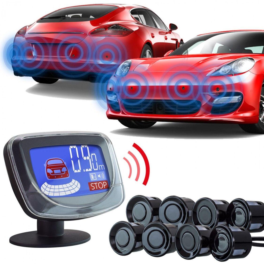 Einparkhilfe vorne hinten✔ 8 Sensoren+Bildschirm+Ton✔ Parkhilfe Rückfahrwarner