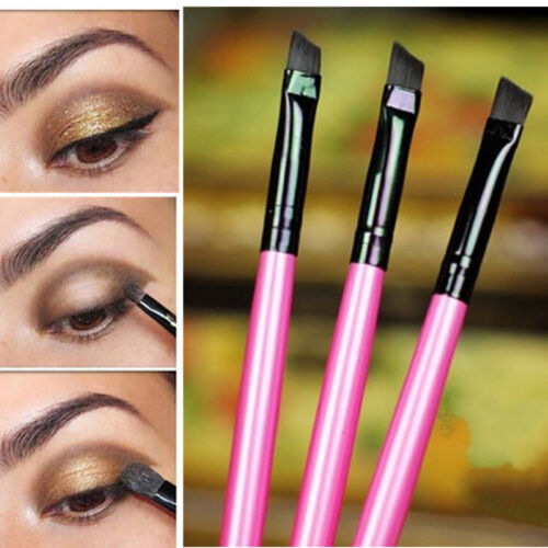 3X Farbe Profi Abgewinkelt Augenbraue Bürste Augenbrauen Liner Makeup Werkzeug